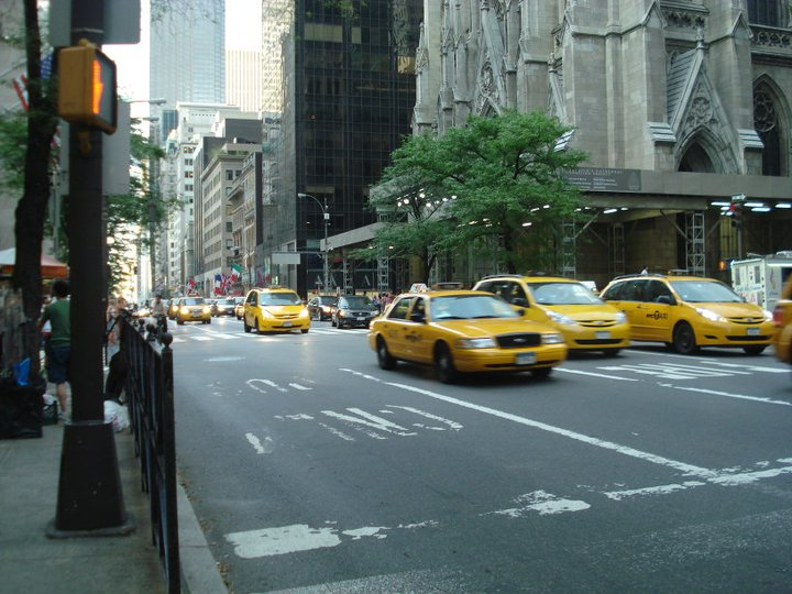 De beroemde Yellow Cabs in New York City