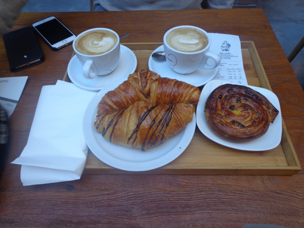 Croissants in the Baluard bakery