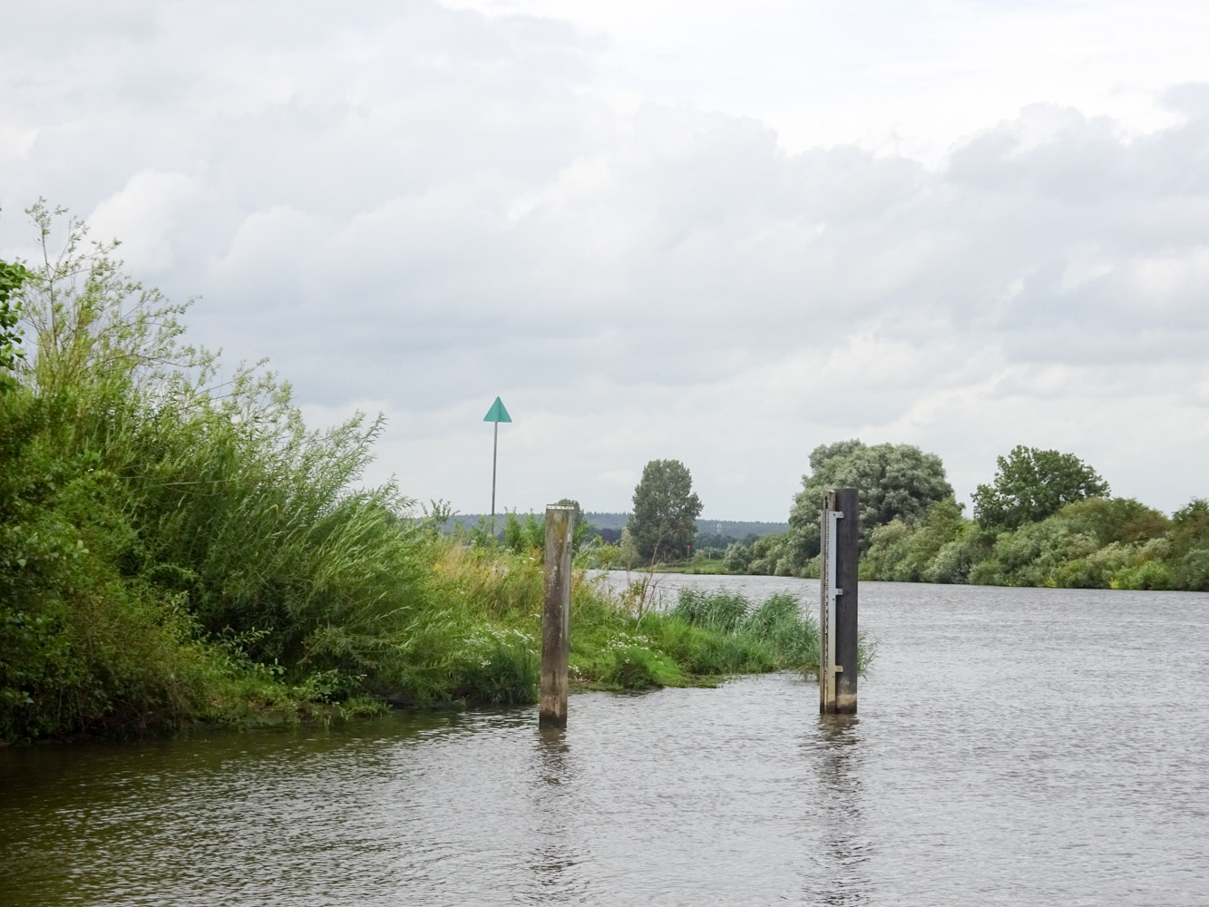 hoge waterstand in de Maas