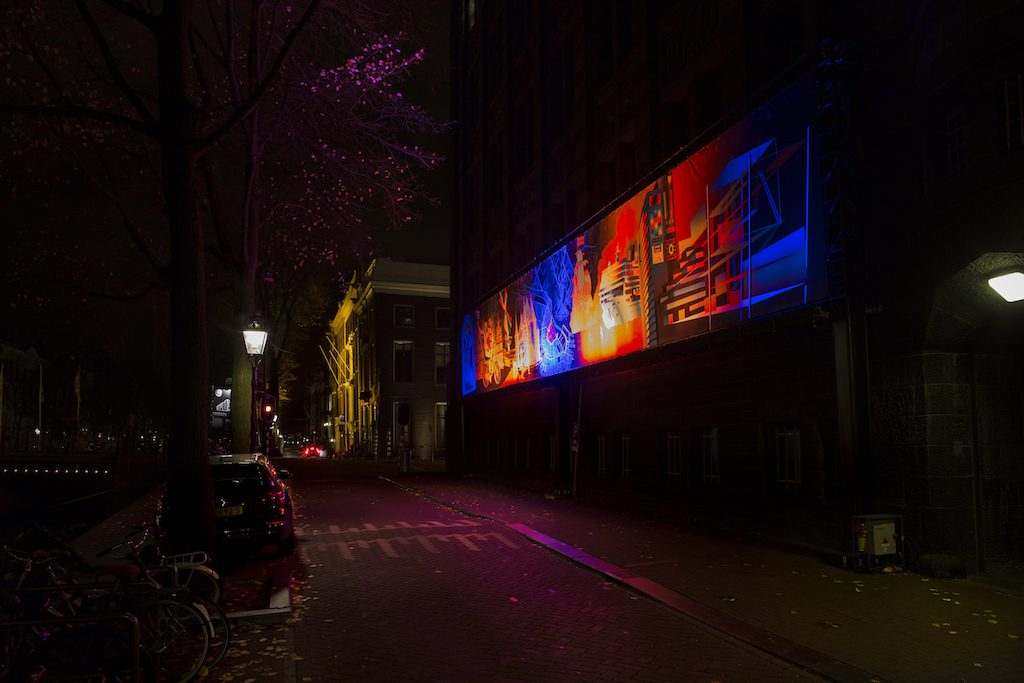 Amsterdam Light Festival 2016 - A window in Time. Foto van Janus van den Eijnden.