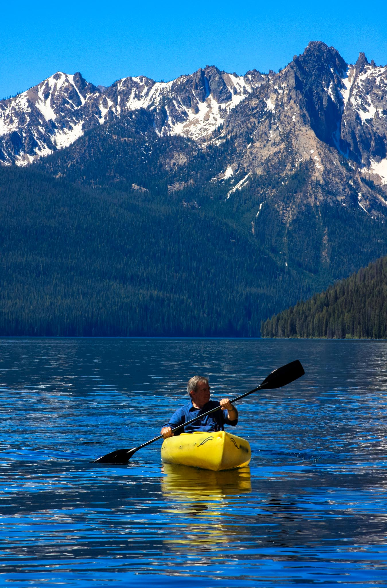 Canoeing, Redfish Lake