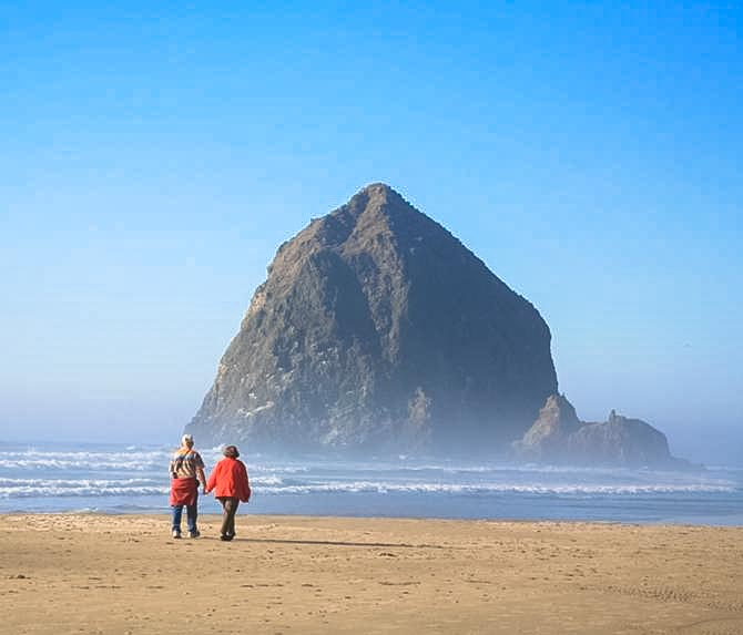 Haystack rock in Oregon