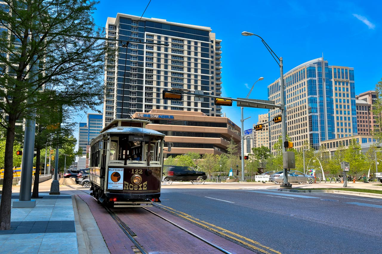De trolley in Dallas
