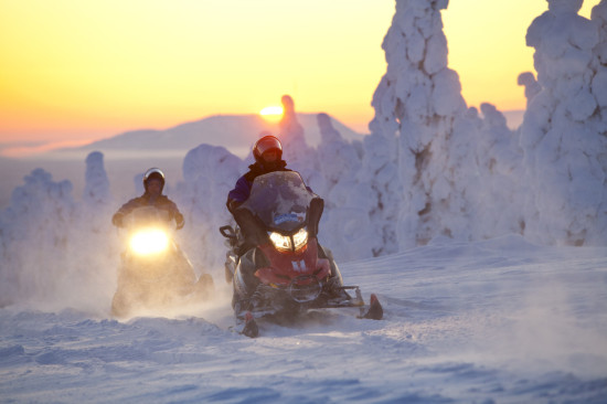 Snowgames OY snowmobiling in Luosto.