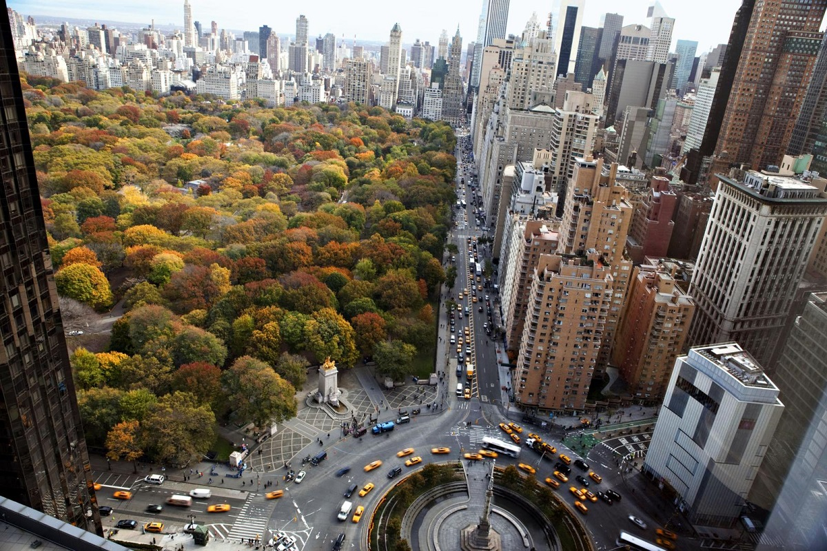 Vier de herfst in New York City