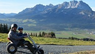 Met een Mountain Cart de berg af in Tirol