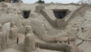 Het zandsculpturenfestival in Sneek