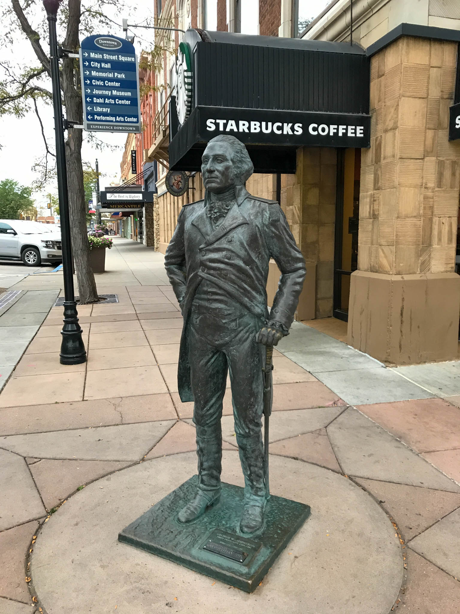 George Washington bij Starbucks