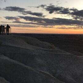 Sunset in de Badlands