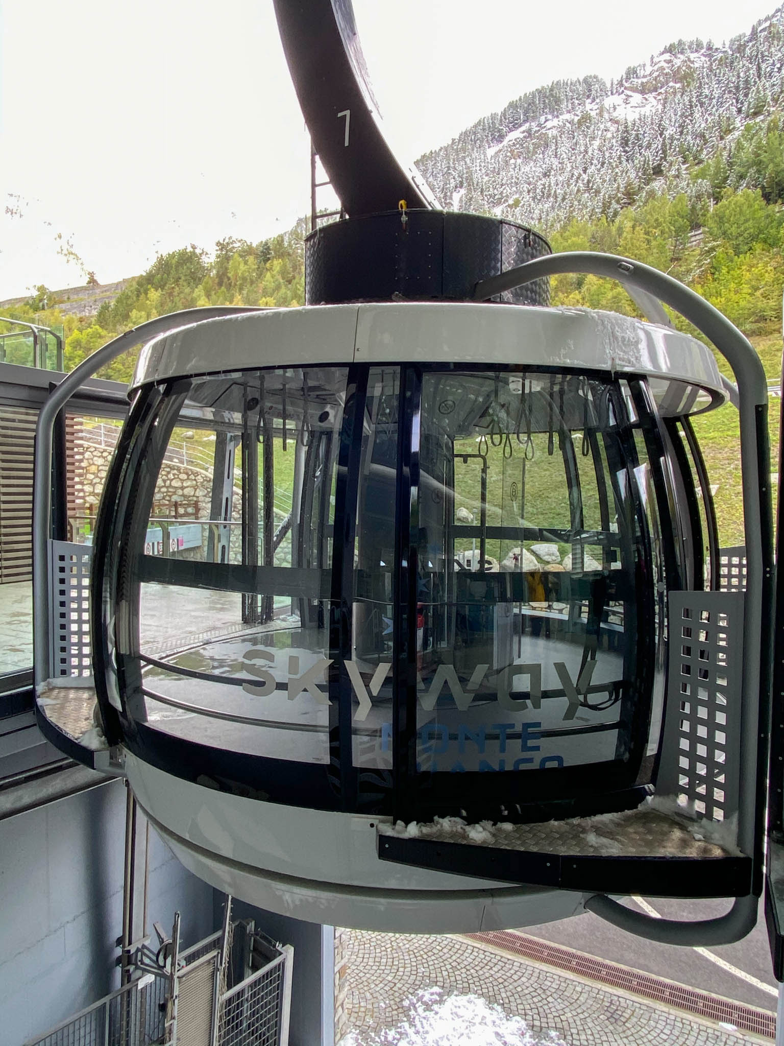 De Skyway in Courmayeur in Aosta